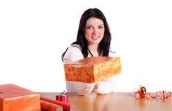Wrap presents Stock Image