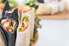 Wrap salad roll Royalty Free Stock Images