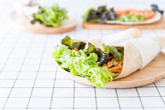 Wrap salad roll Stock Photography