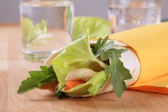 Wrap sandwich Royalty Free Stock Photo