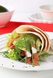 Wrap sandwich. With soy meat and lettuce Stock Photography