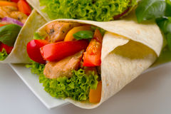 Wrap sandwich Royalty Free Stock Image