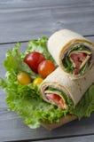 Wrap sandwich stock images