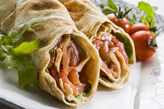 Wrap sandwich Stock Photos