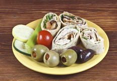 Wrap Sandwiches Stock Images