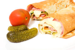 Wrap sandwiches Royalty Free Stock Photo