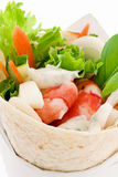 Wrap with Shrimp Stock Photography