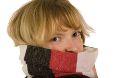 Wrap Up With Scarf1 Royalty Free Stock Photos