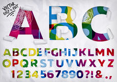 Wrapped alphabet vivid Stock Images