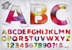 Wrapped alphabet watercolor Royalty Free Stock Image
