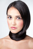 Wrapped around a neck hair Royalty Free Stock Photography