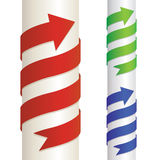 Wrapped arrow Stock Images