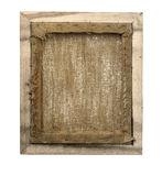Wrapped blank back view canvas in wooden frame. Gallery wrapped blank back view canvas in wooden frame construction - stretcher bar frames back side isolated on stock photography