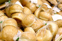 Wrapped bread rolls Royalty Free Stock Photography
