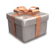 Wrapped brown gift 3D Royalty Free Stock Photography