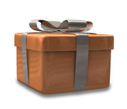 Wrapped brown gift 3D v2 Stock Photo