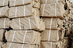 Wrapped in brown paper Stock Photo