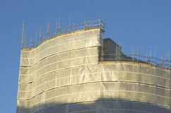 Wrapped building, scaffolding Manchester UK England Royalty Free Stock Image