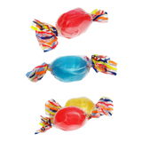 Wrapped candies with transparent cellophane isolated on white Stock Photo