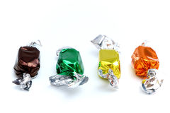 Wrapped Caramels Stock Images