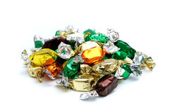Wrapped Caramels Stock Photography