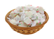 Wrapped Chewy Sweet Candy in Basket Royalty Free Stock Photography