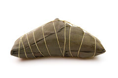 Wrapped Chinese ZongZi on white for Dragon Boat Festival Royalty Free Stock Photos