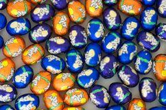 Wrapped chocolate easter eggs Royalty Free Stock Photography