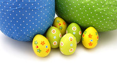 Wrapped chocolate Easter Eggs from top royalty free stock photography