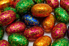 Wrapped chocolate eggs Royalty Free Stock Photos