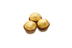 Wrapped chocolate in a paper case Royalty Free Stock Photos