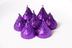 Wrapped chocolates Royalty Free Stock Images