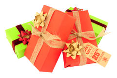 Wrapped Christmas Gift Parcels Royalty Free Stock Photos