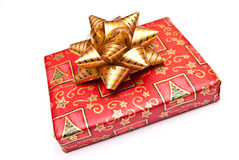 Wrapped Christmas present Royalty Free Stock Images