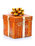 Wrapped Christmas present Royalty Free Stock Image