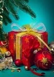 Wrapped Christmas present Stock Photo