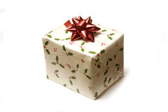 Wrapped Christmas present Stock Image