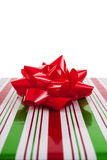 Wrapped Christmas present Stock Photo