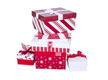 Wrapped Christmas presents Royalty Free Stock Images