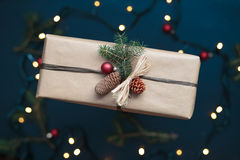 Wrapped Christmas presents on the table Royalty Free Stock Images