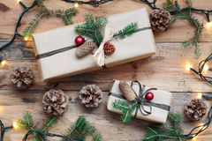 Wrapped Christmas presents Stock Image