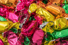Wrapped Christmas Tree Candies Stock Image