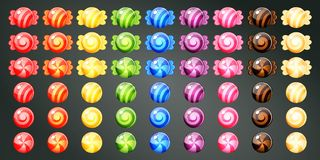 Wrapped colourful candies Stock Photos