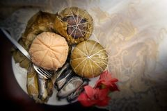 Wrapped Delicacy. A photo of a Visayan dessert and delicacy found in most visayan regions. It is made of sweetened cassava and is a popular present to visitors royalty free stock photos