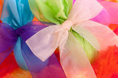 Wrapped Easter eggs Royalty Free Stock Photos