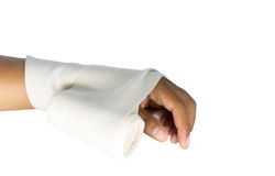 Wrapped fabric is placed on white background Stock Image