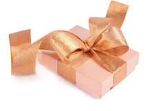 Wrapped gift. On white background Stock Photo