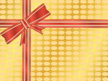 Wrapped gift with bow Stock Images