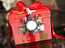 Wrapped gift box Stock Photos