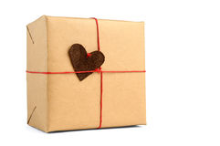 Wrapped gift box Stock Image